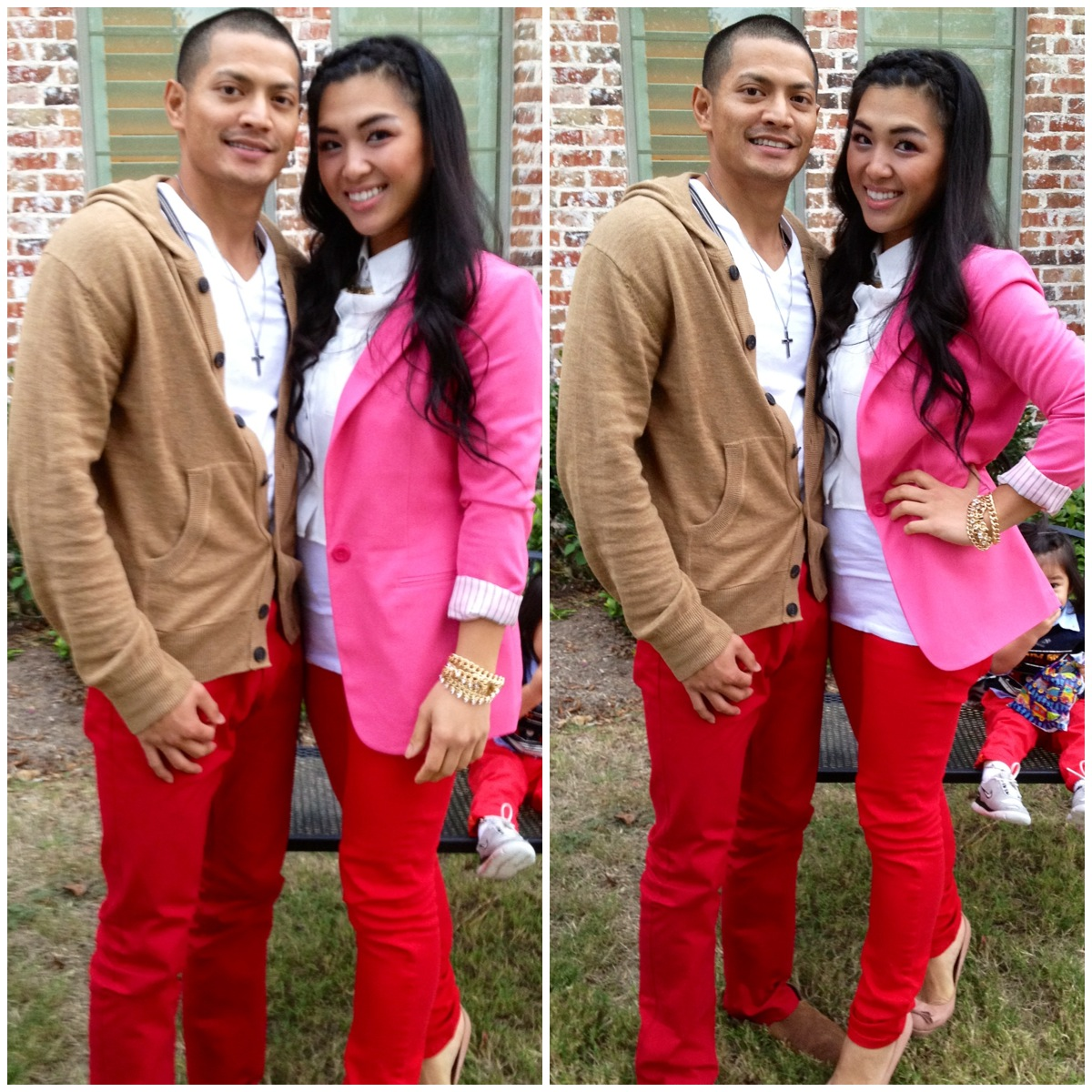 Kat.C.SoKreative: OOTD: Red pants (Family Day) 10.07.12