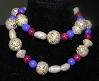 Collana in Fimo e perline in legno