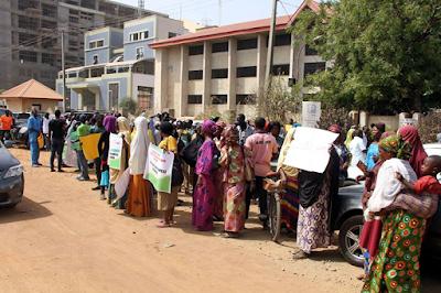 supporters protest for dokpesi in Abuja five