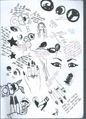 glitter daiquiri, khensani mohlatlole, doodles, art, drawing, handwritten, tumblr girl, kanye lyrics, one republic, ying yang
