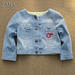 ZARA Kid&#39;s Soft Denim Jacket