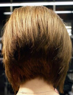 Short Angled Bob Hairstyles Back View