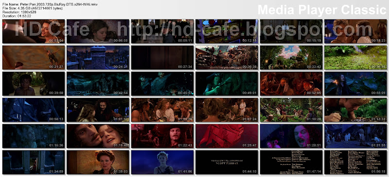 Peter Pan 2003 video thumbnails
