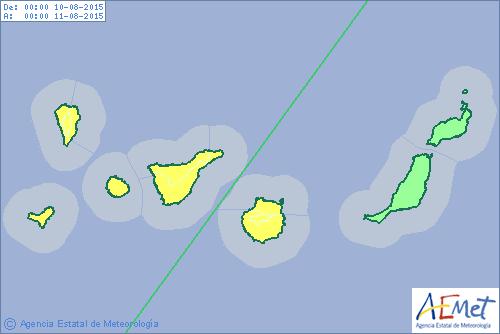 alerta por lluvias en Gran Canaria lunes 10 agosto