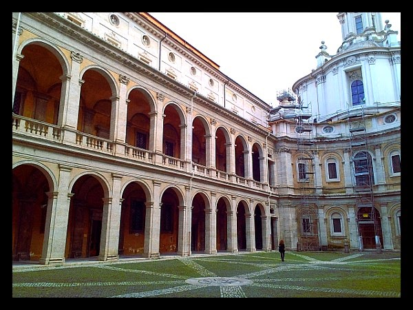 Wnętrze Palazzo della Sapienza