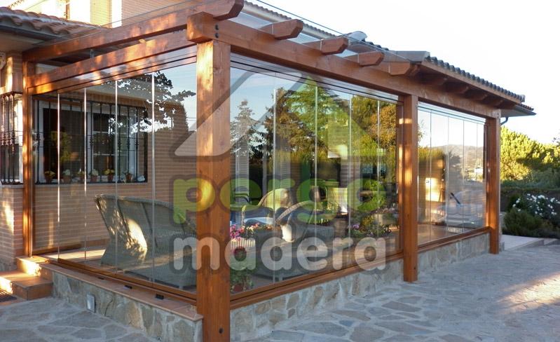 Pergomadera estructuras de madera porches de madera - Porches de madera cerrados ...