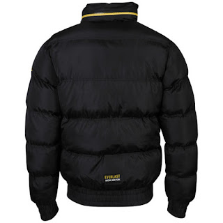 Everlast Mens Puffa Jacket - Black Espalda