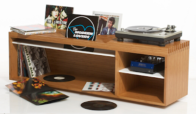 vinyl record storage and display unit