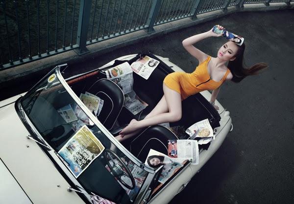 Angela Phuong Trinh - Lovely with car