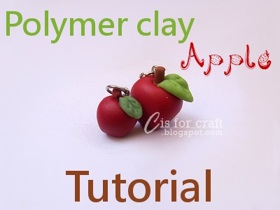 c is for craft homemade air dry clay recipe and apple charm tutorial