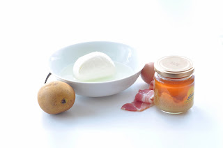 Pancetta Pear & Honey Pancakes with Mozzarella ~ Simple Food