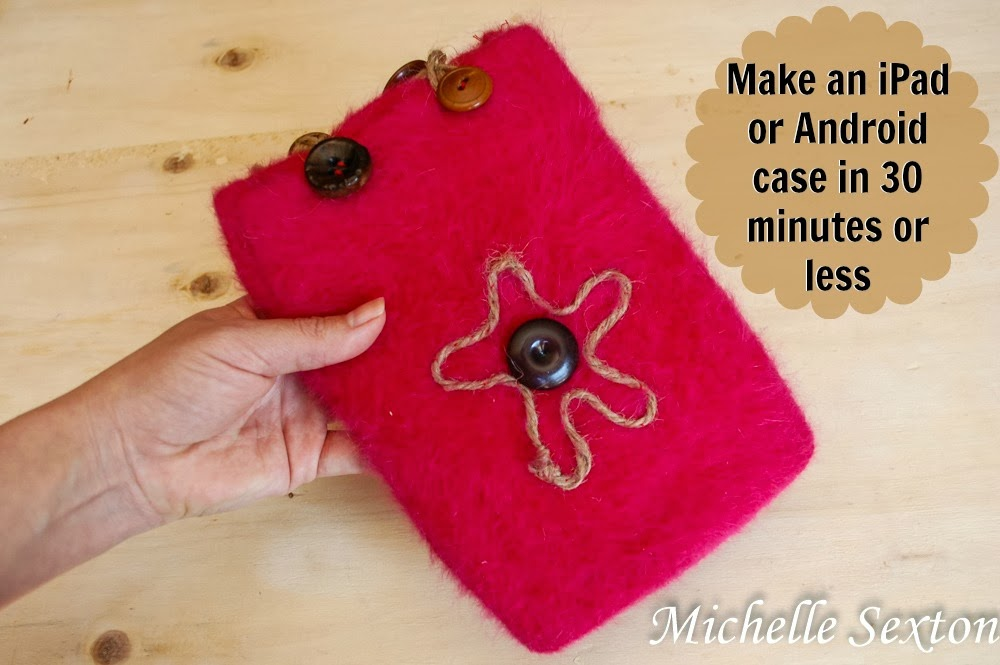 Convert an old beanie into an iPad/Android case in 30 minutes or less - click through and see how