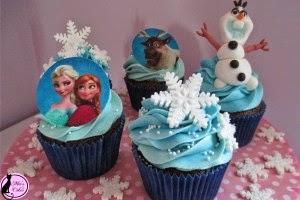 Cupcakes de Frozen, parte 1