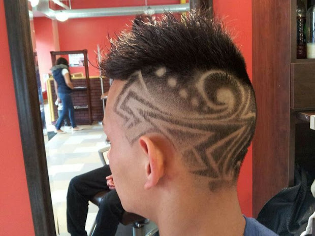 tribal design hair - haircut