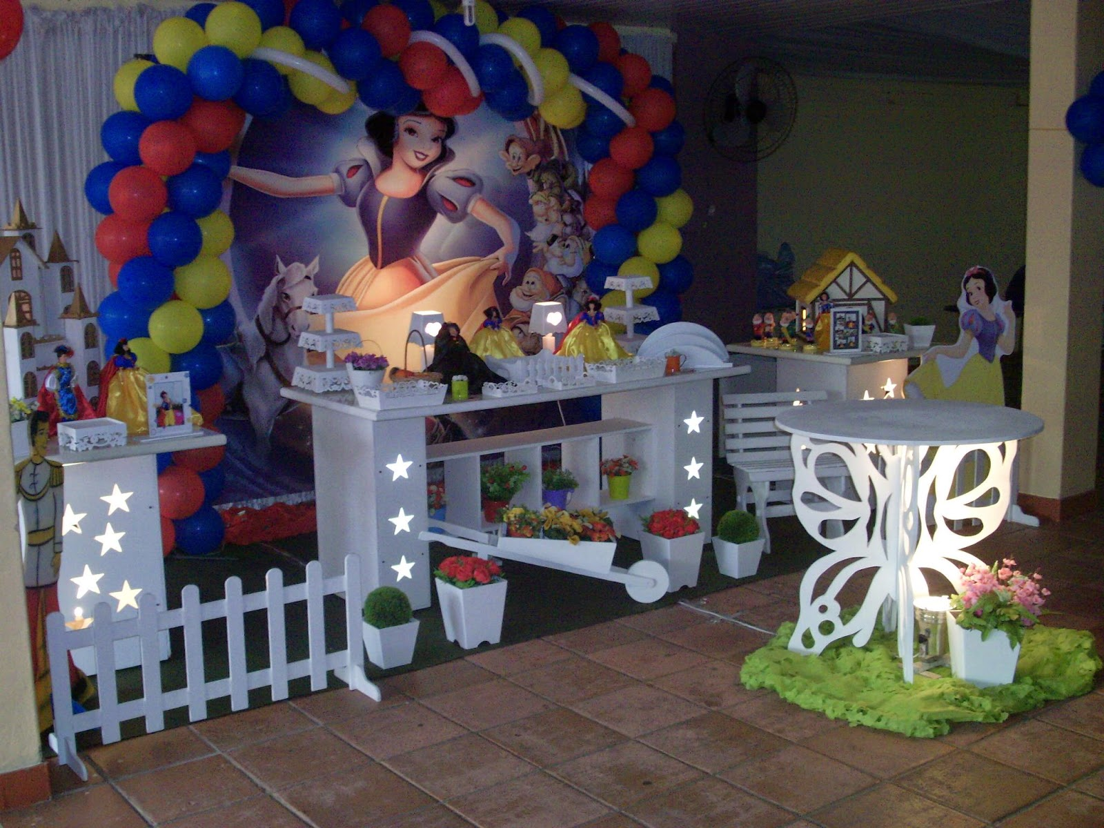 decoracao para festa infantil branca de neve:decoração provençal para festa infantil – Branca de Neve