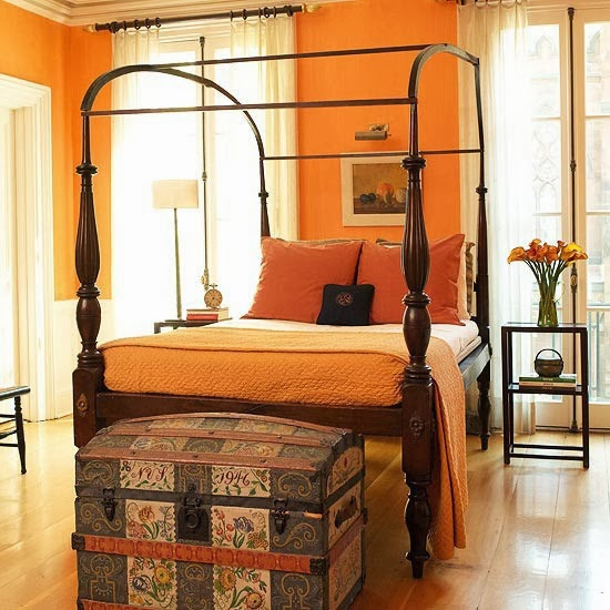 Bedroom glamor ideas orange bedroom glamor ideas for Bedroom inspiration orange