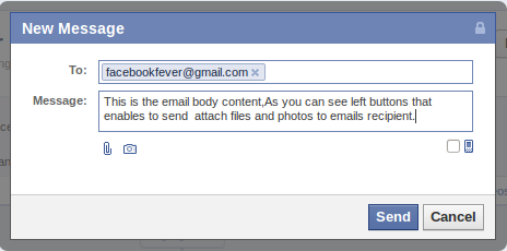 Email on Facebook