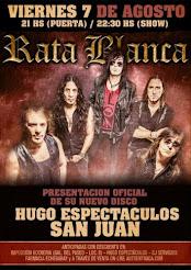 """RATA BLANCA EN EL """"HUGO ESPECTÁCULOS""""  - 07/08/2015"""