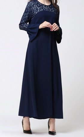 NBH0593 LACE TRUMPET JUBAH
