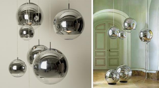 sieciowewnetrza copper shade mirror ball by tom dixon. Black Bedroom Furniture Sets. Home Design Ideas
