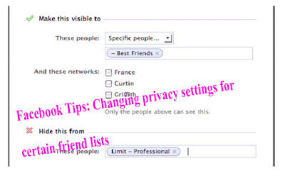Facebook Tips: Changing privacy settings for certain friend lists