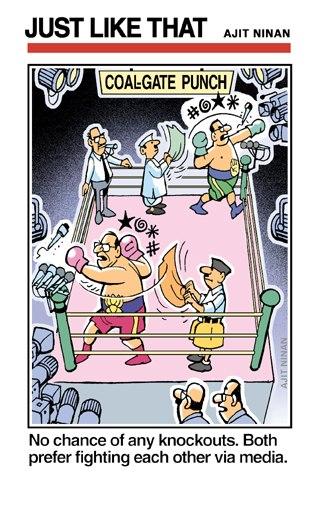 Corruption, Manmohan singh,Kureel,Ajit Ninan' Cartoons