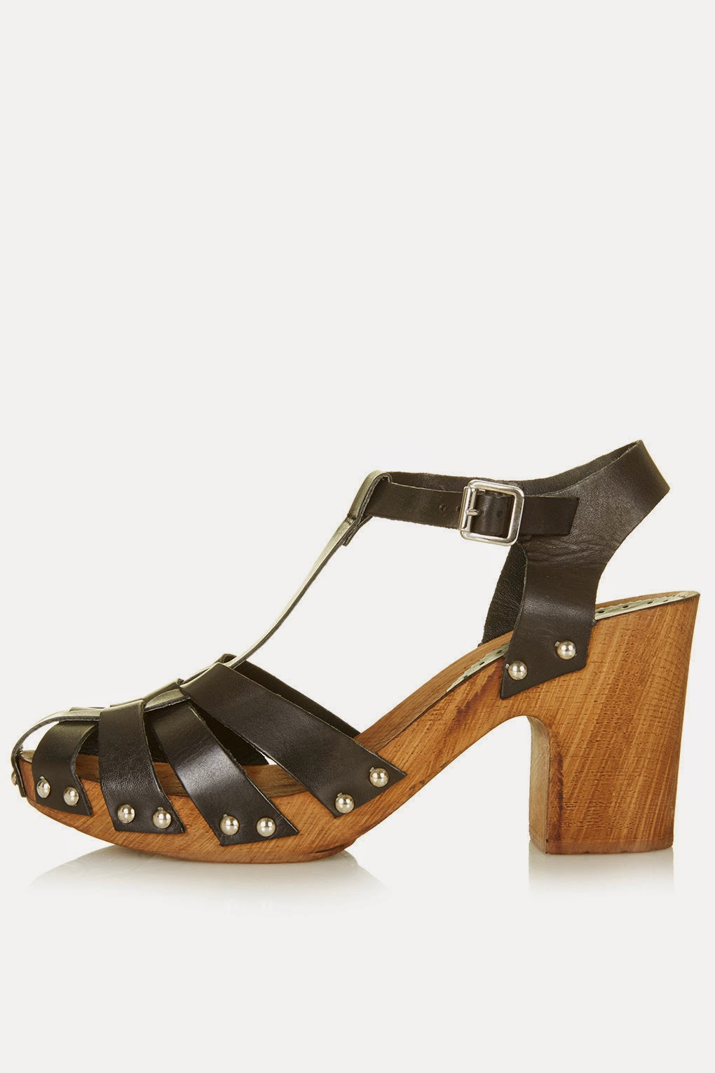topshop nelly shoes, wooden heel black shoe,