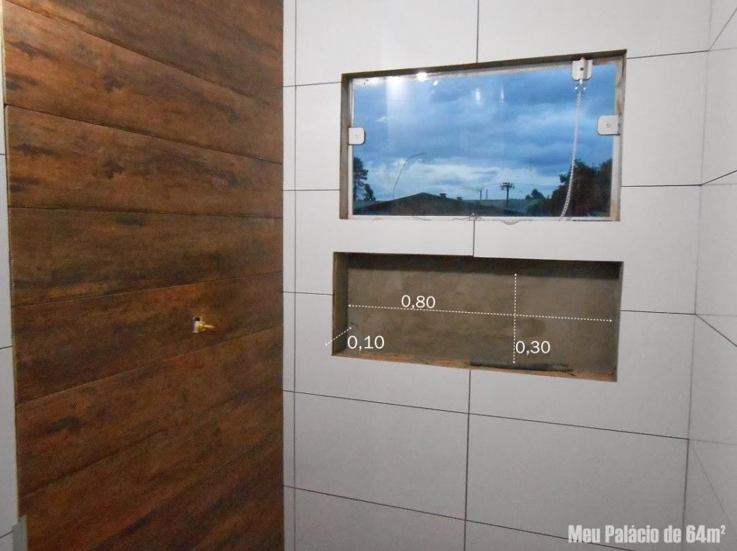 Meu Palácio de 64m² Tudo sobre nichos de banheiro -> Nicho Para Box Banheiro Pequeno