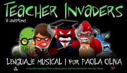 ¡¡Ánimo!! ¡Usa el lenguaje musical para defender la Tierra de los malvados profesores invasores!