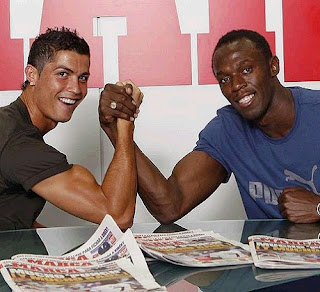 Cristiano Ronaldo and Usain Bolt