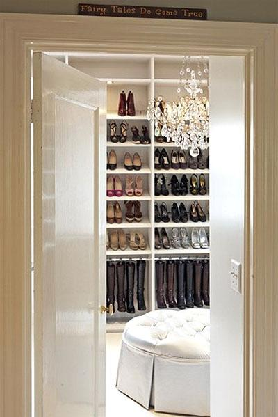 The Phrase U201cFairy Tales Do Come Trueu201d Hung Above The Door Almost Goes  Without Notice. This Closet Lives Up To The Expectation. An Elegant Crystal  Chandelier ...