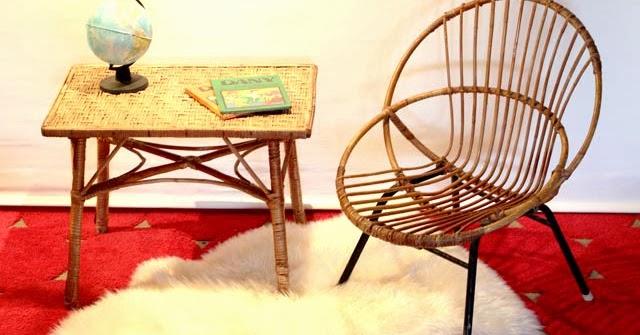 Chicbaazar objets vintage 50 60 70 paire de fauteuils - Miroir chaty vallauris prix ...