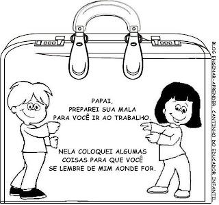 ATIVIDADE COM ALBUM PARA O DIA DOS PAIS - MALA DE LEMBRANÇAS