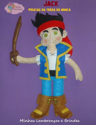 jack-pirata-terra-do-nunca-disney-feltro-enfeite-mesa