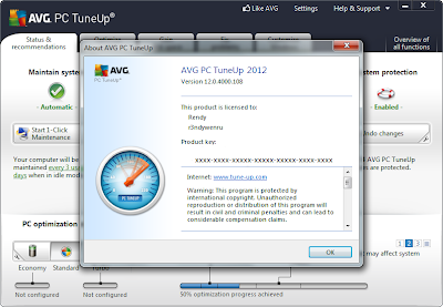 Serial AVG PC Tune Up 2012 Full