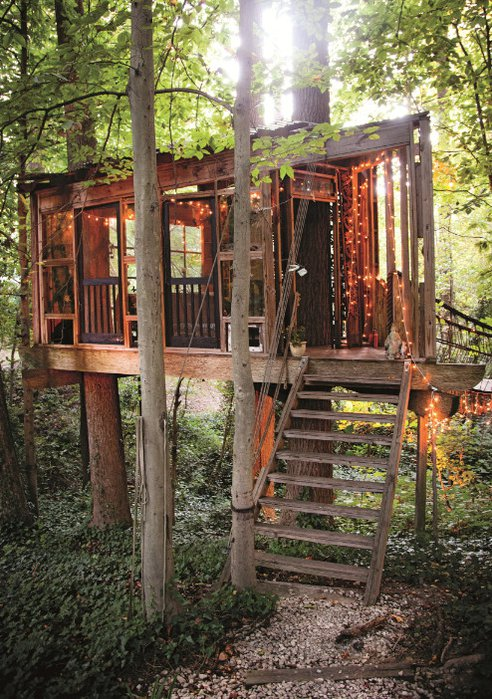 Super awesome minimal impact tree house tiny house - Unique house interior ideas influenced by various world fashions ...