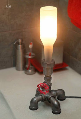 Living With A Drip Steampunk Style Lamps From Plumbing Parts