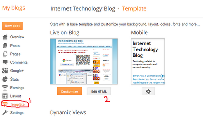 Optimize Blogger blog Template for better Search rank and traffic