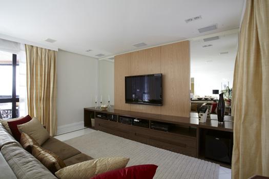 Fotos De Sala Com Tv Lcd Na Parede ~ Parece que é um piso colocado na parede