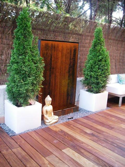 Cosas de palmichula decorar con acero cort n - Fuentes para patios y jardines ...