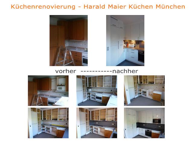Küchenrenovierung Schritt für Schritt - vorher - nachher Bilder