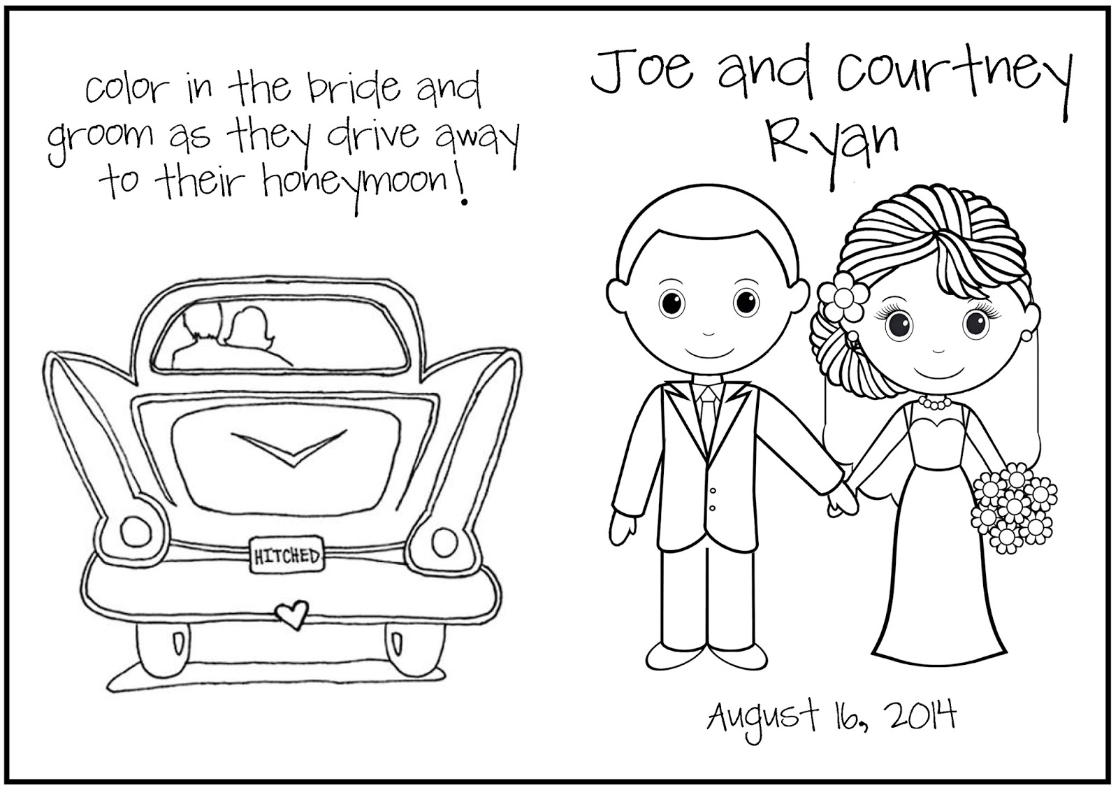 q and u wedding coloring pages - photo #29