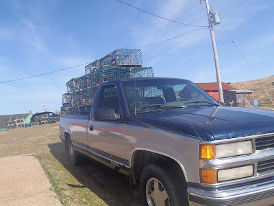 oshan whale watch, lobster trap, cape breton, nova scotia, cabot trail, canada, northern cape breton, chevy, chevrolet, silverado, chev, truck,