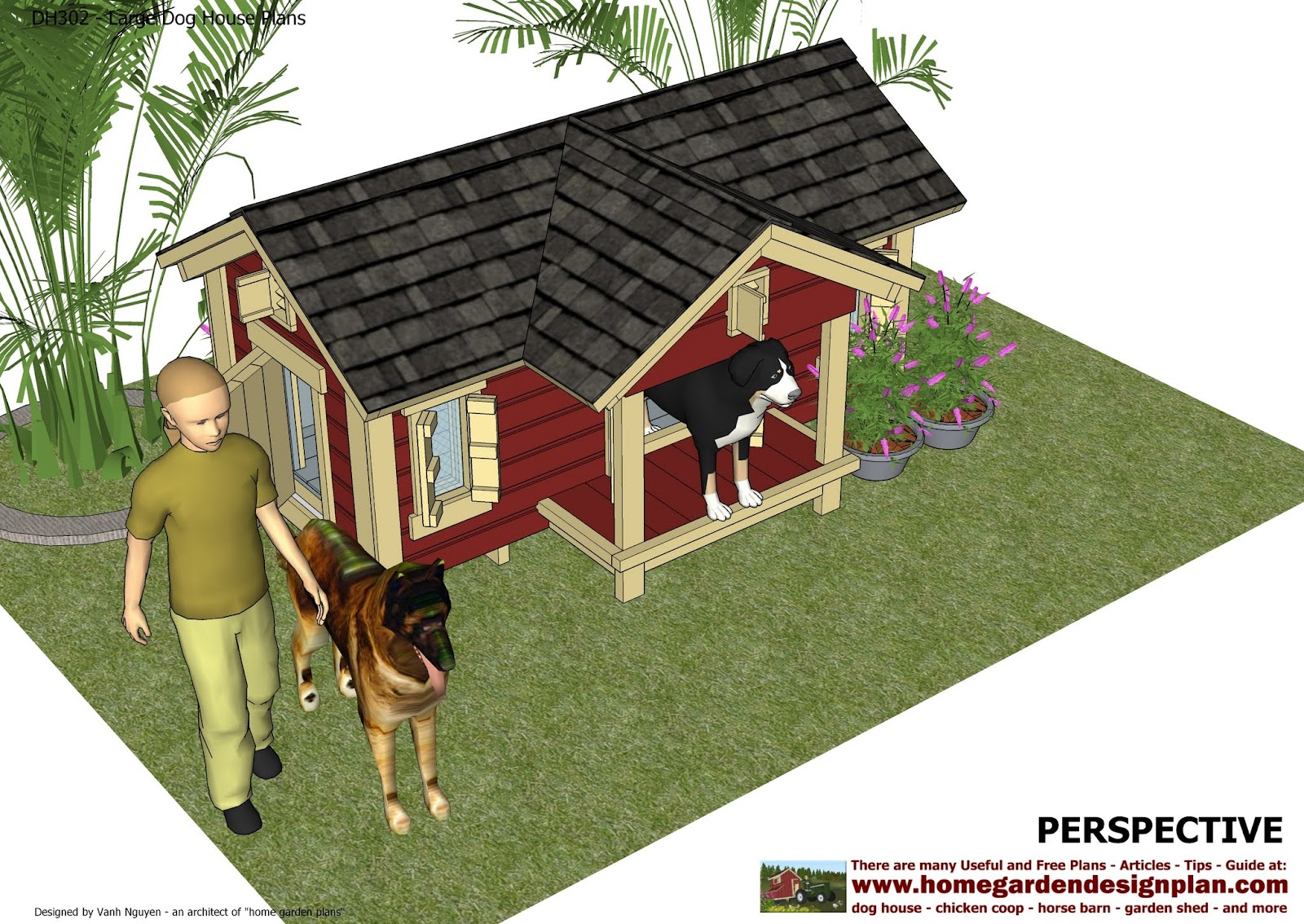 home garden plans: dh302 - insulated dog house plans construction