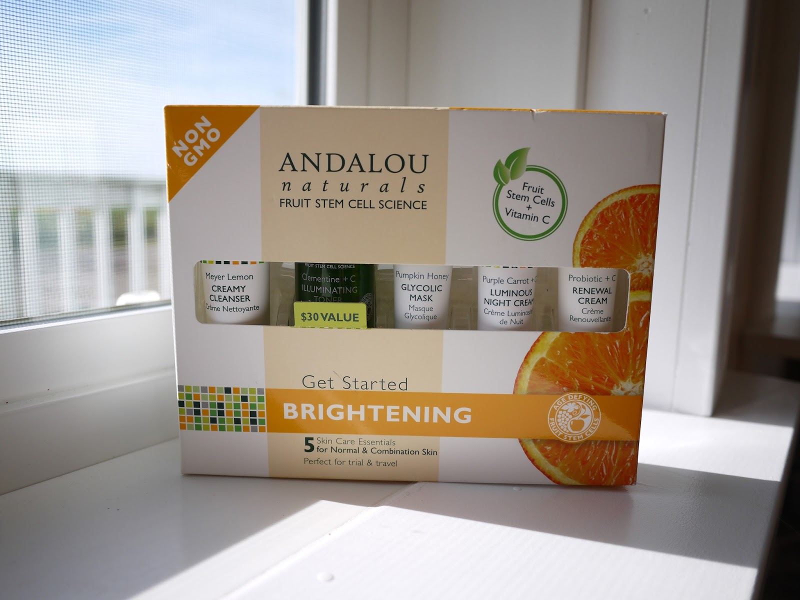 Andalou Naturals Get Started Brightening Skincare Set review