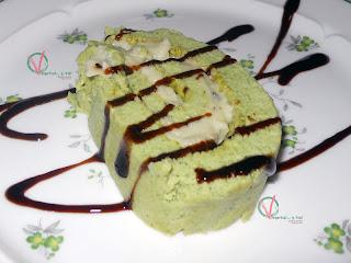 Porción de brzo de brócoli y roquefort.