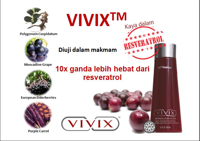 vivix antipenuaan, darah tinggi, kencing manis, kanser, kolesterol, antioksidan, pemulihan tahap sel