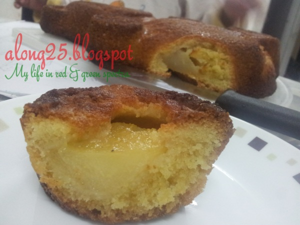 blog along25, along25, pear cake, river cottage, resepi kek sedap