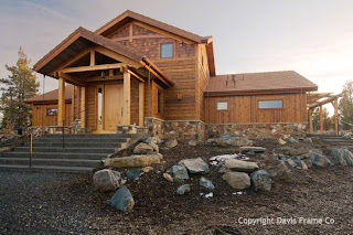 oregon timber frame home