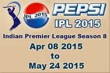 Pepsi ipl 8 live broadcasting TV channels list with country